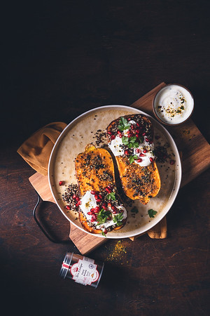 Courge Butternut rôtie au Curry Breton