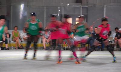2011 07 16:  Roller Derby, Duluth Divas v Delavan Dolls, Carlton MN