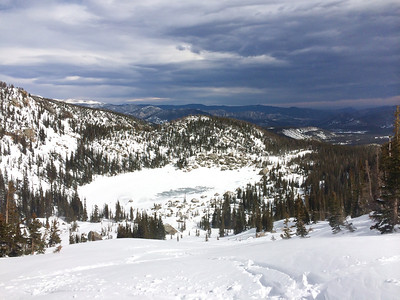 Backcountry Skiing, Lake Haiyaha, March 2014