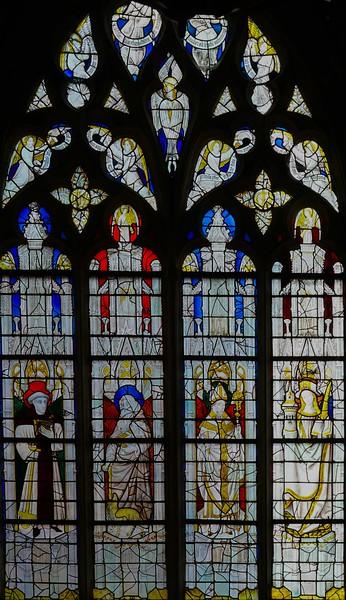 Caudebec-en-Caux - Saints Fiacre,, Anthony,  Eloi, and  Barbara (c 1460-70))