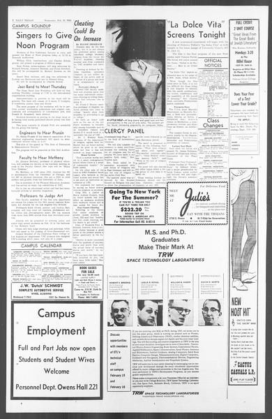 Daily Trojan, Vol. 56, No. 60, February 10, 1965