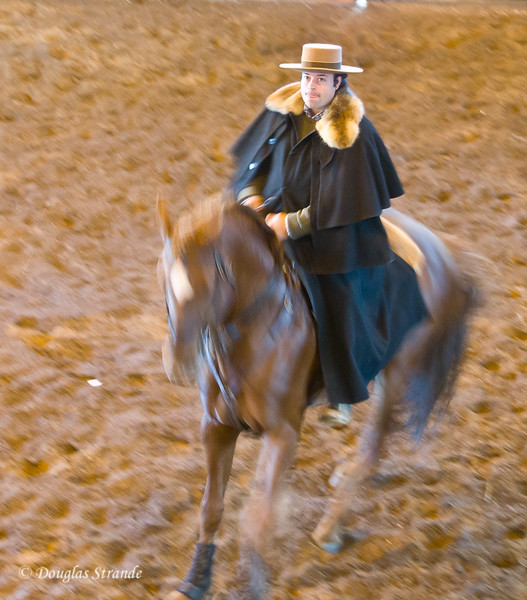 Wed 3/16 at the horse-breeding farm: Maria's son and his prize horse give an Andalusian demonstration