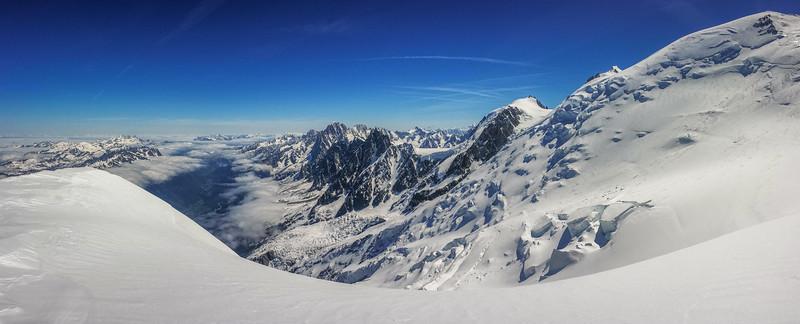 Chamonix Valley and Aiguilles de Chamonix