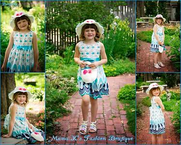 Mama K's peacock dress