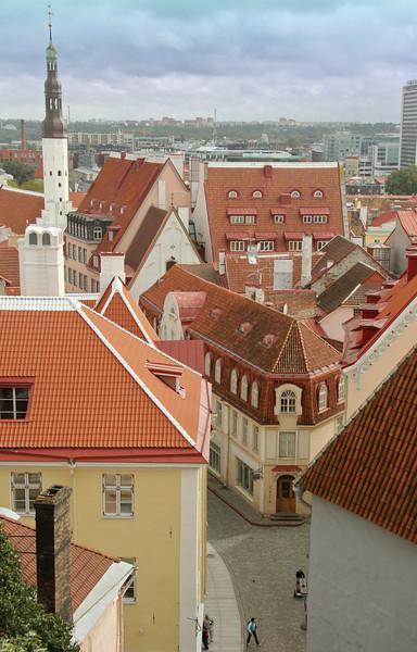 Stunning views from the Kohtuotsa viewpoint atop Toompea Hill -Tallinn, Estonia