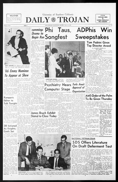 Daily Trojan, Vol. 57, No. 120, May 16, 1966