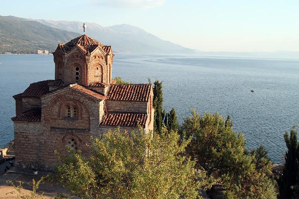 Saint Jovan's church overlooking Lake Ohrid in southwest Macedonia