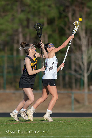 Broughton Lady Caps lacrosse at Middle Creek. February 26, 2019. D4S_1645