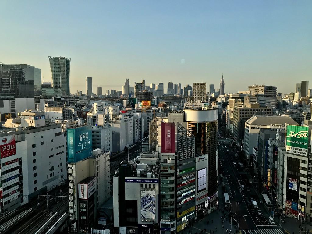 Shibuya Sky obervation deck view, Shibuya Scramble Square