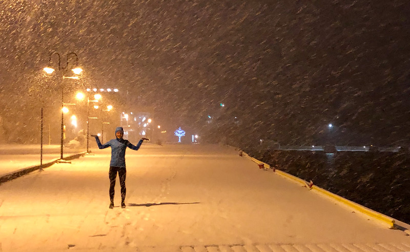Yuliya's snow storm running kit