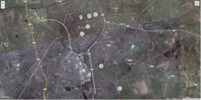 Map - Photo locations Brugge