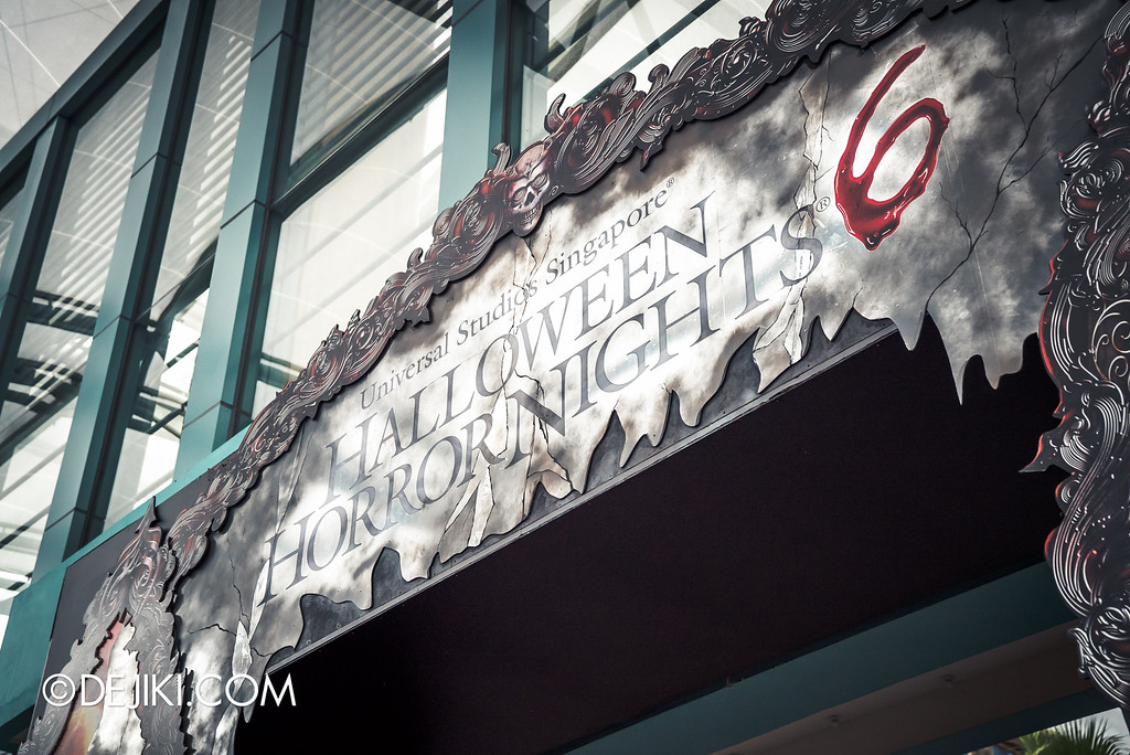 Universal Studios Singapore - Halloween Horror Nights 6 Before Dark Day Photo Report 2 - Park Entrance arch grand marquee