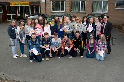 Pupils from St Josephs High School Crossmaglen who received their GCSE results. R1435003