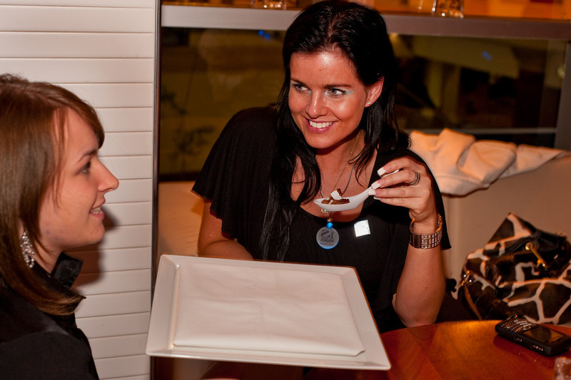"Photographs of Earth Hour event at Rick Moonen's RM restaurant in Mandalay Bay Resort in celebration of ""Earth Hour,"" a global event with over 200 cities around the world participating by cutting their electricity for 1 hour, trying ""Conserve Energy Today For Tomorrow."""