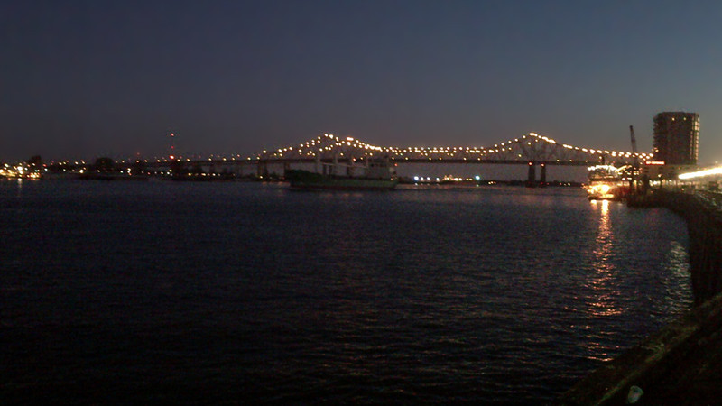 The Mississipi river at the French Quarter in New Orleans