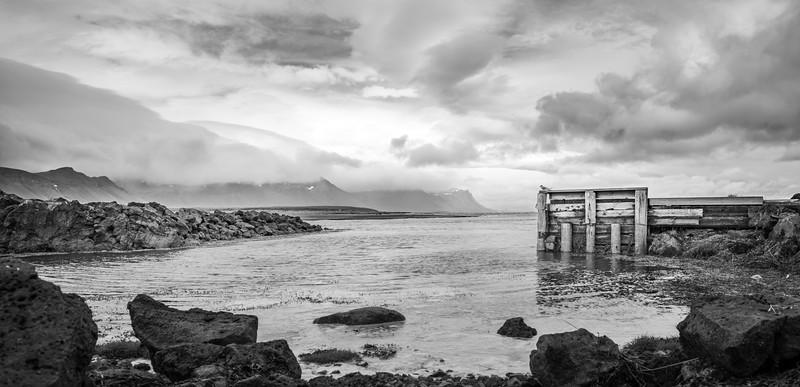 Peaceful Coast  Black & White Photography by Wayne Heim