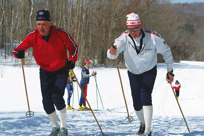 Bob Gray and Mike Gallagher, both 3 time Olympains