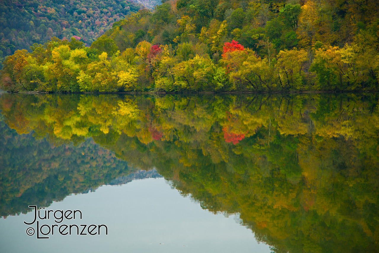 Mountain Lake Reflection Autumn