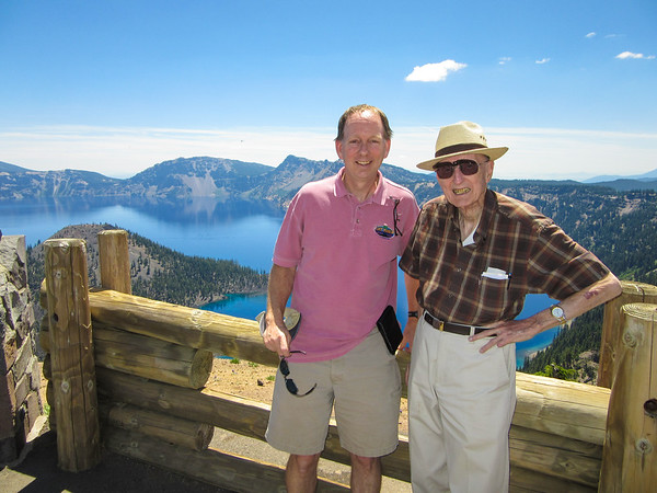 Crater Lake with my Dad, June 2015