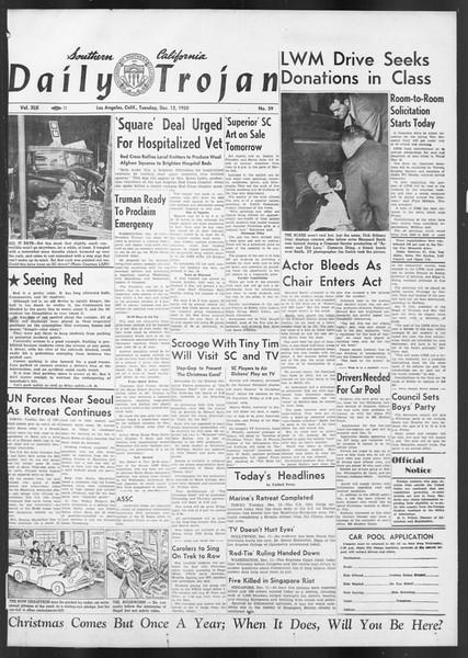 Daily Trojan, Vol. 42, No. 59, December 12, 1950