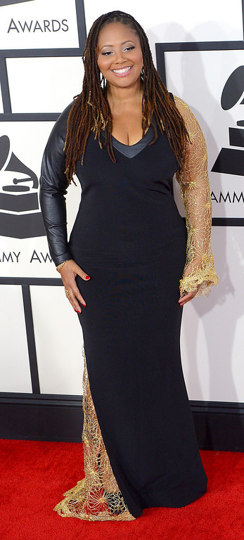 . Lalah Hathaway arrives at the 56th Annual GRAMMY Awards at Staples Center in Los Angeles, California on Sunday January 26, 2014 (Photo by David Crane / Los Angeles Daily News)