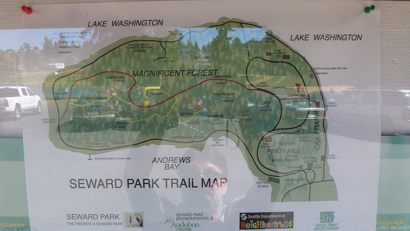 The map of Seward Park