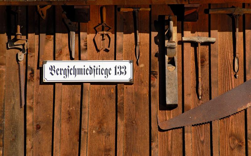 Decoration of Wooden House in Hallstatt, Salzkammergut, Upper Austria