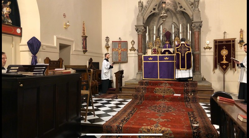 Passion Sunday Mass begins