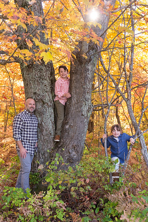 Harbor Springs fall color family photography session