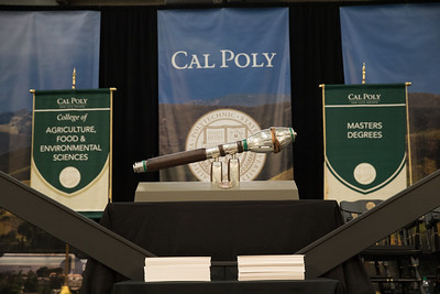 Ashraf addresses CalPoly 2019 Fall Commencement - College of Science and Mathematics and College of Agriculture