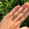 3.00ct Yellow Orange Sapphire Solitaire 36