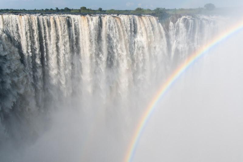 Rainbow in Victoria Falls, Zimbabwe