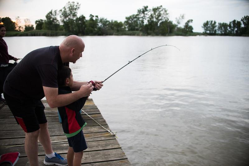 Joshua's catfish catch.