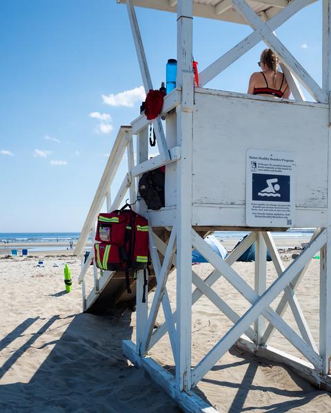 Lifeguard, Popham Beach, Phippsburg, Maine  (80009)