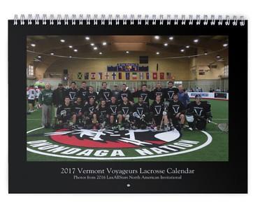 2017 Vermont Voyageurs Calendar (photos from LASNAI2016)