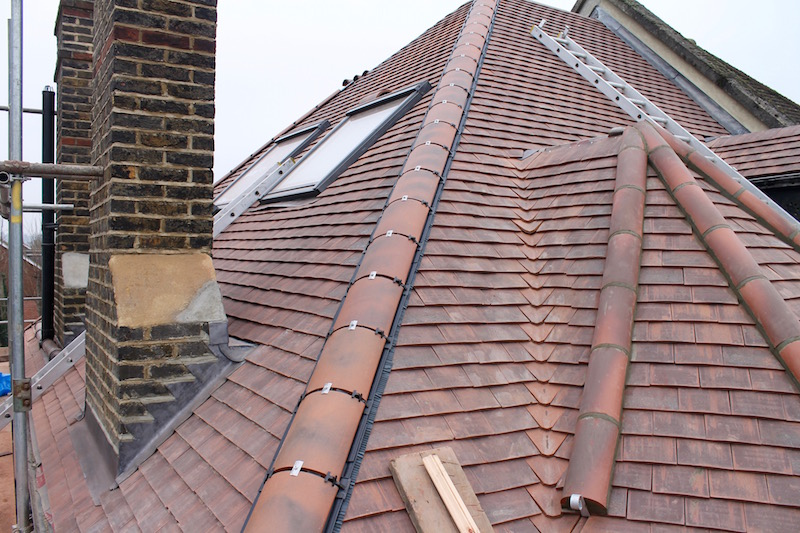 Valley tiles & new roof in Selsdon
