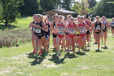 College Women 1.5 Mile Mark - 2012 Spartan Invitational