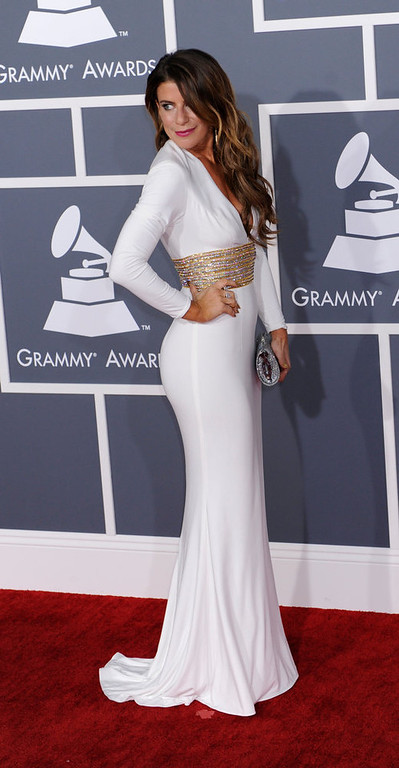 . DJ Michelle Pesce arrives to  the 55th Annual Grammy Awards at Staples Center  in Los Angeles, California on February 10, 2013. ( Michael Owen Baker, staff photographer)
