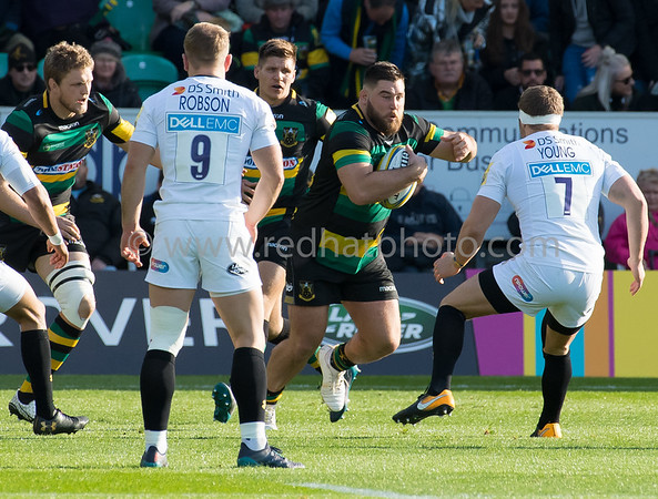 Northampton Saints vs Wasps, Aviva Premiership, Franklin's Gardens, 28 October 2017