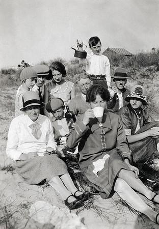 Tea on the beach, 1930s