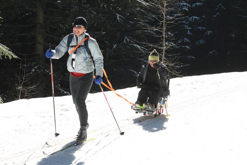 Nordic sit ski.
