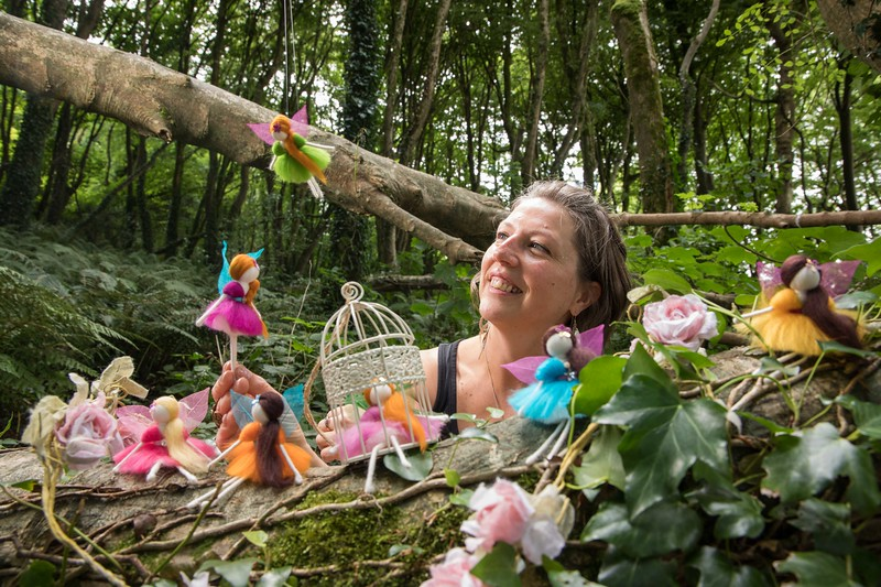 Artist Stephanie Tenier pictured with her Feltastik Fairies  who will be holding various workshops throughout Cork Craft Month. Pic Darragh Kane
