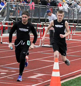 BHRV and Western Christian boys' track at Unity Christian 4-15-19