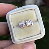 .74ctw Transitional Cut Diamond Earrings, Yellow Gold 18