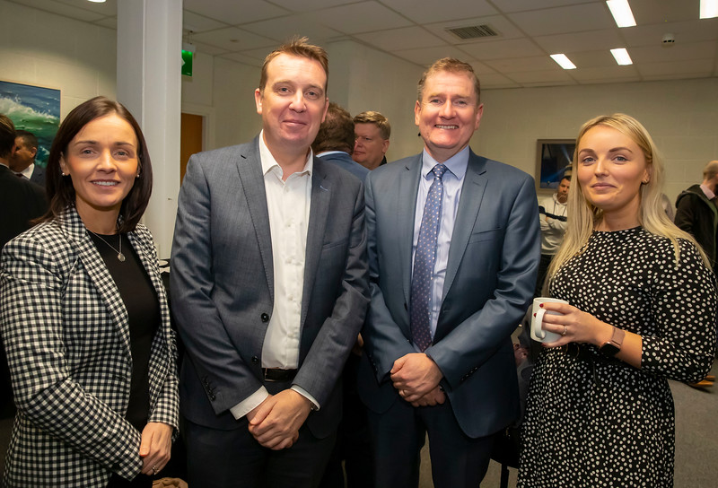 15/11/2019. FREE TO USE IMAGE. Pictured at the The official opening of the ArcLabs Research & Innovation Centre WIT extension, at Carriganore, Co Waterford. Pictured are Alicia MaGuire Worklab, Aidan Shine South East BIC, Sean McKeown Kilkenny Council and Siobhan Oates South East BIC. Picture: Patrick Browne