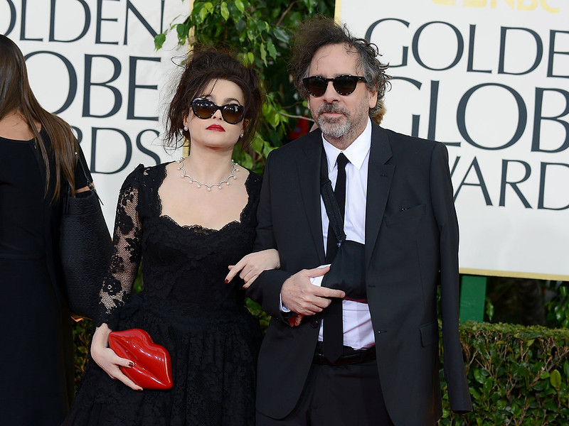 . Actress Helena Bonham Carter, left, nd and director Tim Burton arrive at the 70th Annual Golden Globe Awards at the Beverly Hilton Hotel on Sunday Jan. 13, 2013, in Beverly Hills, Calif. (Photo by Jordan Strauss/Invision/AP)