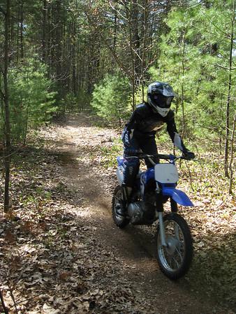 Kirsten & Lauren on Dirt Bikes
