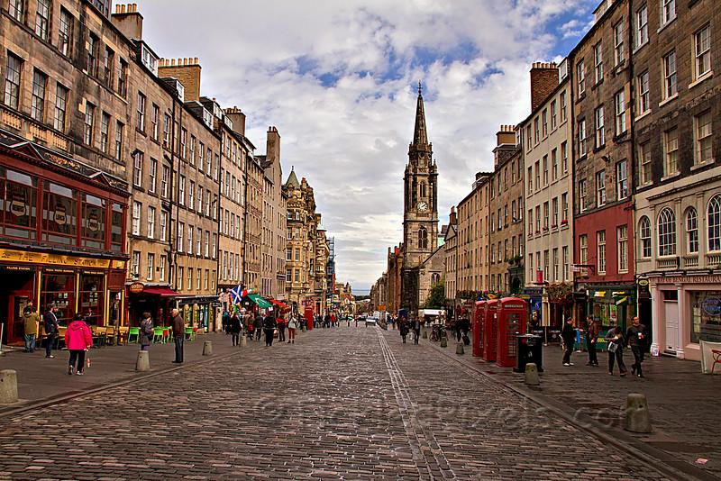 On The Royal Mile, Edinburgh, Scotland
