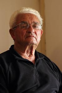 Manuel Tavares da Silva (Ribeiras, Pico), born 1921, pictured in his family's home. August 16, 2012.