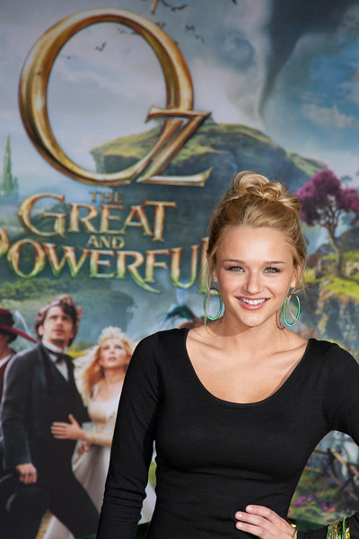 HOLLYWOOD; CA - FEBRUARY 13: Actress Hunter King arrives at the world premiere of Walt Disney Pictures' 'Oz The Great And Powerful' at the El Capitan Theatre on Wednesday February 13; 2013 in Hollywood; California. (Photo by Tom Sorensen/Moovieboy Pictures)
